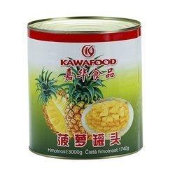 Ananas w syropie kostka KAWAFOOD 3kg | Dua Vien KAWAFOOD 3kgx6szt