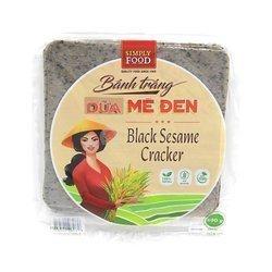 Craker z kokosem i  z czarnym sezamem  SIMPLE FOOD 500g   Banh Trang Dua Me Den Loai Vuong 500g x 30opak/krt